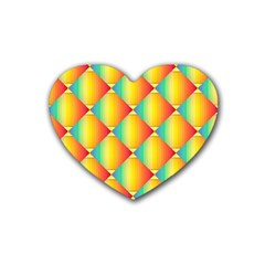 The Colors Of Summer Rubber Coaster (heart)