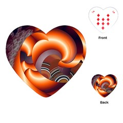 The Touch Digital Art Playing Cards (heart)  by Nexatart