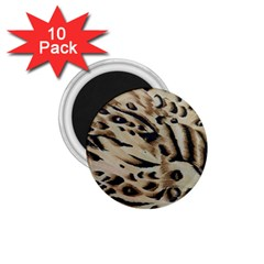 Tiger Animal Fabric Patterns 1 75  Magnets (10 Pack)  by Nexatart