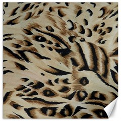 Tiger Animal Fabric Patterns Canvas 12  X 12   by Nexatart