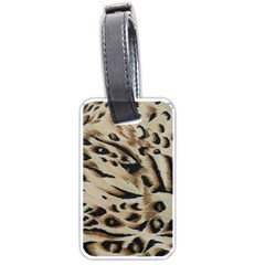 Tiger Animal Fabric Patterns Luggage Tags (one Side)  by Nexatart