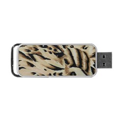 Tiger Animal Fabric Patterns Portable Usb Flash (one Side)