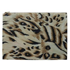 Tiger Animal Fabric Patterns Cosmetic Bag (xxl)