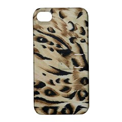 Tiger Animal Fabric Patterns Apple Iphone 4/4s Hardshell Case With Stand by Nexatart