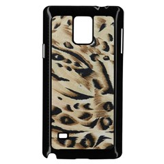 Tiger Animal Fabric Patterns Samsung Galaxy Note 4 Case (black) by Nexatart