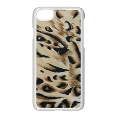 Tiger Animal Fabric Patterns Apple Iphone 7 Seamless Case (white) by Nexatart