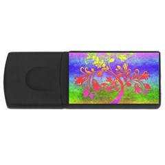 Tree Colorful Mystical Autumn Usb Flash Drive Rectangular (4 Gb) by Nexatart