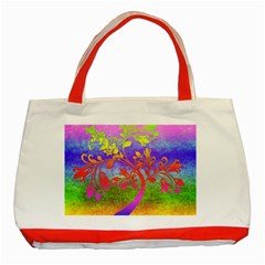 Tree Colorful Mystical Autumn Classic Tote Bag (red) by Nexatart