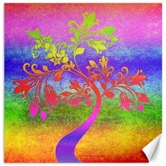 Tree Colorful Mystical Autumn Canvas 20  X 20   by Nexatart