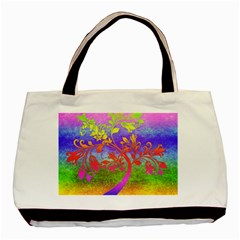 Tree Colorful Mystical Autumn Basic Tote Bag (two Sides) by Nexatart