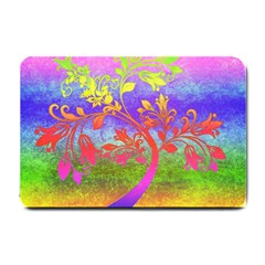 Tree Colorful Mystical Autumn Small Doormat  by Nexatart