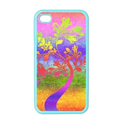 Tree Colorful Mystical Autumn Apple Iphone 4 Case (color) by Nexatart