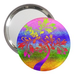 Tree Colorful Mystical Autumn 3  Handbag Mirrors by Nexatart
