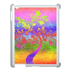 Tree Colorful Mystical Autumn Apple Ipad 3/4 Case (white) by Nexatart