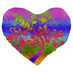 Tree Colorful Mystical Autumn Large 19  Premium Heart Shape Cushions by Nexatart