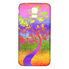 Tree Colorful Mystical Autumn Samsung Galaxy S5 Back Case (white) by Nexatart