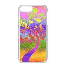 Tree Colorful Mystical Autumn Apple Iphone 7 Plus White Seamless Case by Nexatart