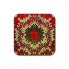 Tile Background Image Color Pattern Rubber Coaster (square)