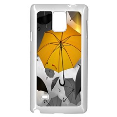 Umbrella Yellow Black White Samsung Galaxy Note 4 Case (white)