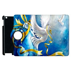 Turtle Doves Christmas Apple Ipad 2 Flip 360 Case by Nexatart