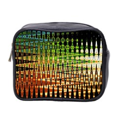 Triangle Patterns Mini Toiletries Bag 2 Side by Nexatart