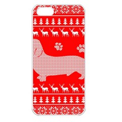Ugly X Mas Design Apple Iphone 5 Seamless Case (white) by Nexatart