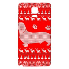 Ugly X Mas Design Galaxy Note 4 Back Case by Nexatart