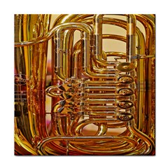 Tuba Valves Pipe Shiny Instrument Music Tile Coasters