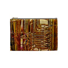 Tuba Valves Pipe Shiny Instrument Music Cosmetic Bag (medium)