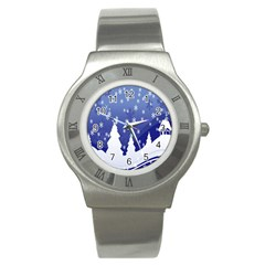 Vector Christmas Design Stainless Steel Watch