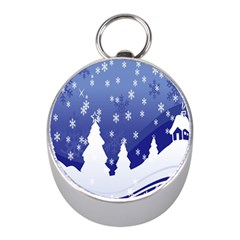Vector Christmas Design Mini Silver Compasses