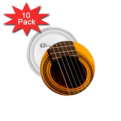 Vintage Guitar Acustic 1 75  Buttons (10 Pack)