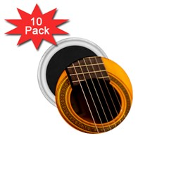 Vintage Guitar Acustic 1 75  Magnets (10 Pack)