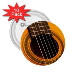 Vintage Guitar Acustic 2 25  Buttons (10 Pack)