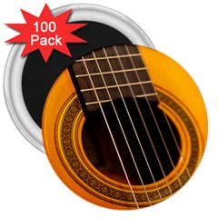 Vintage Guitar Acustic 3  Magnets (100 Pack)