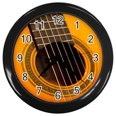 Vintage Guitar Acustic Wall Clocks (black)