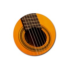 Vintage Guitar Acustic Rubber Coaster (round)