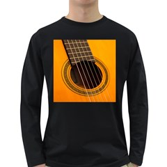 Vintage Guitar Acustic Long Sleeve Dark T Shirts
