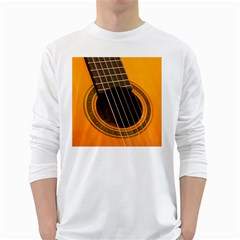 Vintage Guitar Acustic White Long Sleeve T Shirts