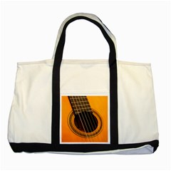 Vintage Guitar Acustic Two Tone Tote Bag