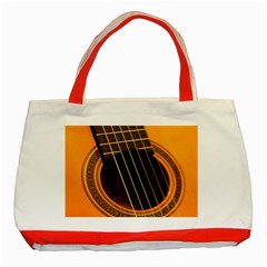 Vintage Guitar Acustic Classic Tote Bag (red)