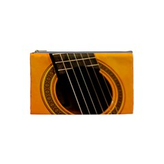 Vintage Guitar Acustic Cosmetic Bag (small)