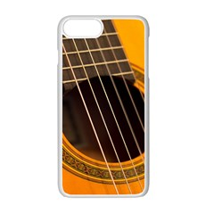 Vintage Guitar Acustic Apple Iphone 7 Plus White Seamless Case by Nexatart
