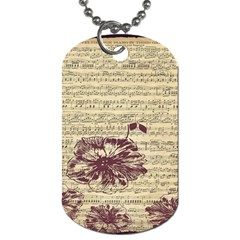 Vintage Music Sheet Song Musical Dog Tag (one Side) by Nexatart