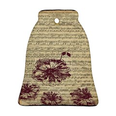 Vintage Music Sheet Song Musical Ornament (bell) by Nexatart