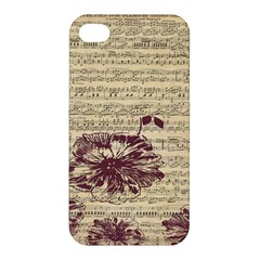 Vintage Music Sheet Song Musical Apple Iphone 4/4s Hardshell Case by Nexatart