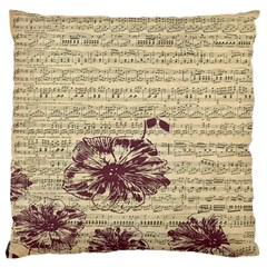 Vintage Music Sheet Song Musical Large Cushion Case (one Side)