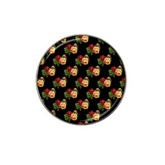 Vintage Roses Wallpaper Pattern Hat Clip Ball Marker by Nexatart