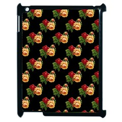 Vintage Roses Wallpaper Pattern Apple Ipad 2 Case (black) by Nexatart