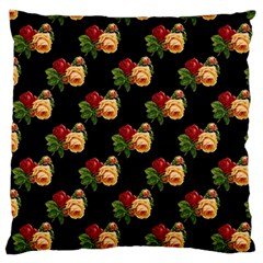 Vintage Roses Wallpaper Pattern Large Cushion Case (two Sides) by Nexatart